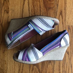 Toms Wedge Heels, 8.5